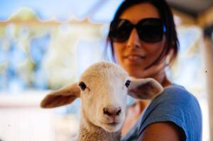 Naboo and Rachael Badger at Greener Pastures Sanctuary.