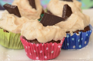 Kathy's Vegan Chocolate Cupcakes with Peanut Butter Cream Frosting