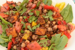 In Vogue: Moroccan Quinoa Salad with Roasted Sweet Potato