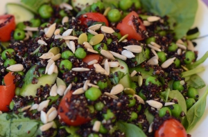 Crunchy Quinoa Salad with Peas and Fresh Mint