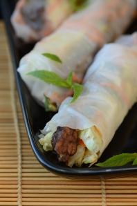 Vegan Vietnamese Spring Rolls with Tempeh